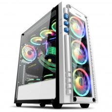 더알유 태풍의눈 강화유리 RGB 화이트 9팬